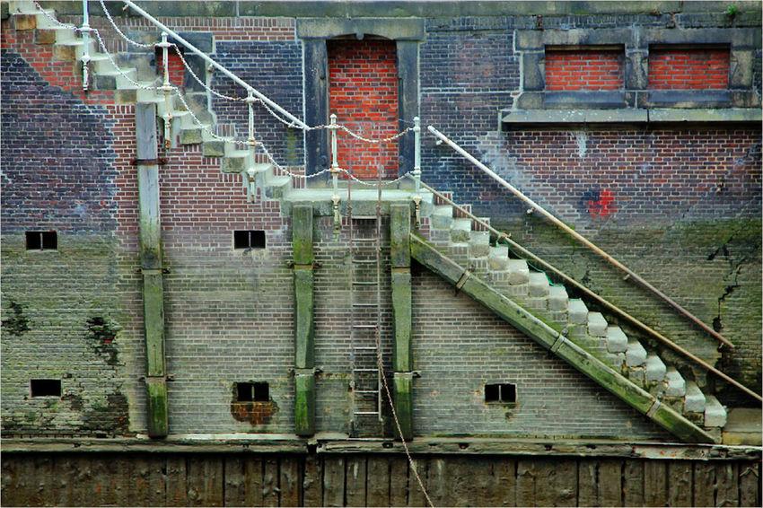 Irgendwo im Hamburger Hafen ... Hafen Hamburg Steps Treppe