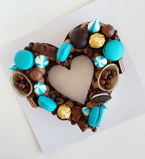 heart Macarons Heart Heart Shape Heart ❤ Heart Cake White Background Candy Multi Colored Close-up Sweet Food Food And Drink Dessert Temptation Cake Macaroon Chocolate Whipped Cream Chocolate Cake