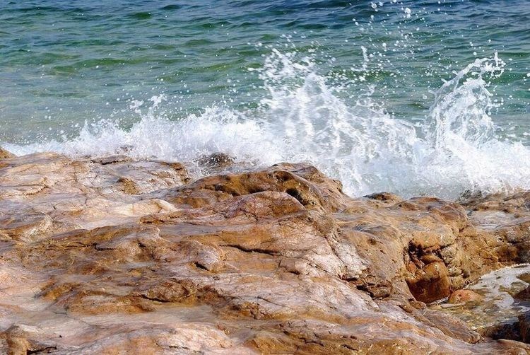 Thasos Island Sea Wave Water Beauty In Nature Outdoors Splashing Motion Day No People Nature Power In Nature Rocks Blue Sea