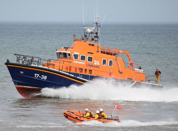 RNLI Open Day, August 2017. Withernsea lifeboat, Humber Lifeboat, RNLI Coastguard Rescue Helicopter Lifeboat RNLI Boat Coastguard Day Horizon Over Water Lifeboat RNLI Nautical Vessel No People Outdoors Rescue Sea Transportation Water Wave Winchman