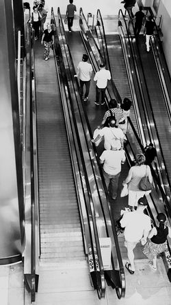 Transportation High Angle View Indoors  Public Transportation Mode Of Transport Modern Convenience Subway Station Public Transport Large Group Of Objects The Way Forward People Hanging Out Enjoying Life Shopping Center Stairs Walking Stairs People Photography Watching People Black And White Black & White Blackandwhite
