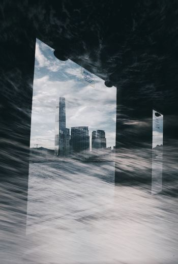 Hong Kong City Multiple Exposures Victoria Harbour Architecture Building Building Exterior Built Structure City Cloud - Sky Day Digital Composite Financial District  Glass - Material Modern No People Office Office Building Exterior Outdoors Sky Skyscraper Transparent Window The Architect - 2018 EyeEm Awards The Creative - 2018 EyeEm Awards