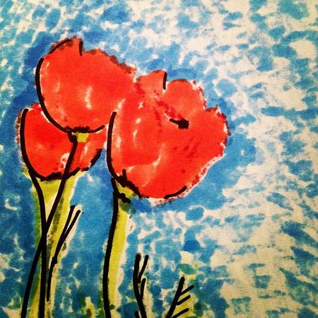 just a quick #sketch of #poppies , one of my favorite #flowers with #prismacolor #markers #coloraesthetics #happycolortrip #coloronroids #popyacolor #icoloramas Flowers Poppies  Sketch MyArt Prismacolor Markers  Happycolortrip Coloraesthetics Hqrcreations