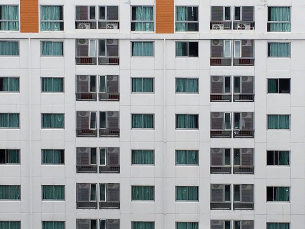 EyeEm Selects The elevation view of apartment in Bangkok city. Window Building Exterior Architecture Full Frame Built Structure Backgrounds Residential Building Modern Outdoors Day Apartment No People Beside Elevation Wall - Building Feature Side View