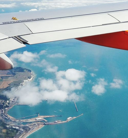 Dover EasyJet Dover, England White Cliffs  Flight ✈ Water Swimming Pool Swimming Flamingo Sky