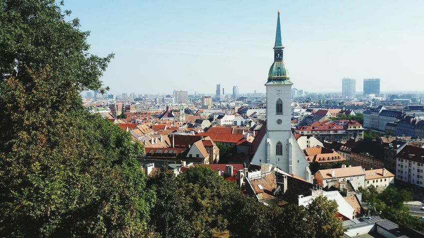City Cityscape Blue Sky Town Taking Photos Travel Travellers Travelingtheworld  Travelingram Church Church Architecture Old Town Bratislavacastle Bratislava Slovakia Bratislava Bratislava Hrad Bratislava, Slovakia EyeEm Nature Lover Eyeemphotography Weekendtrip Nofilter