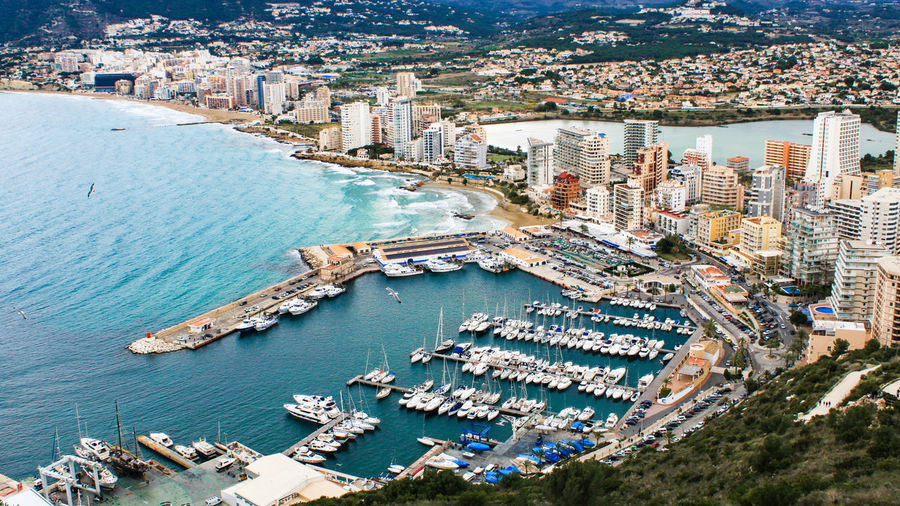 Calpe Calpe Alicante España PeñonDeIfach Peñon Ifach Harbour Yatch Marine Yatchclub From Above  Cityscapes Cityscape Blue Sea Sea And Boats Seascape EyeEm Gallery Check This Out Feel The Journey