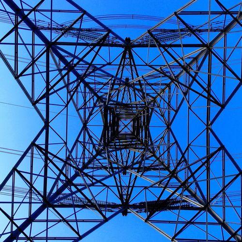 Electricity pylon! Symmetry Beautiful Power Lines Artistic