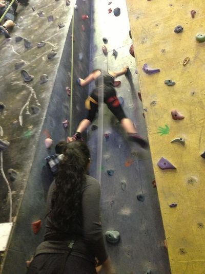 Awesome indoor Rock Climbing