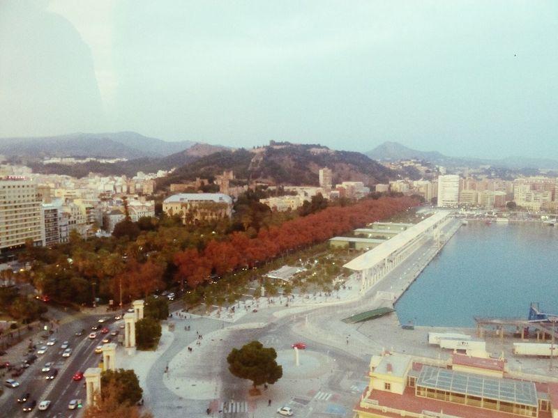 Málaga, Spain City City Life Travel Destinations Noria Ferris Wheel Christmas Sunset Lights