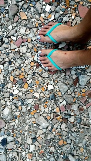 Turquoise By Motorola Havaianas slippers broken Colorful Tiles Silver And White Nail Polish Taking Photos