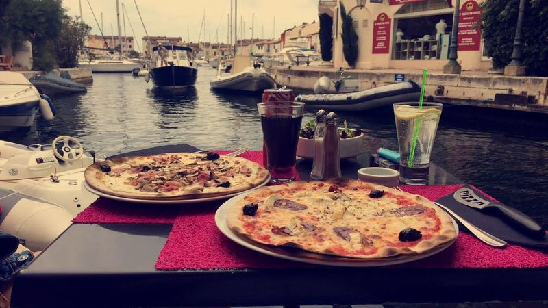 Pizza Food And Drink No People Tranquility Water Venise Grimaud