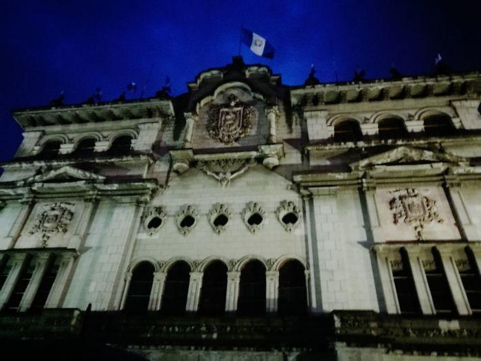 Guatemala City Sky Travel Destinations Building Exterior History Palacio Nacional Parque Central Anochecer Sunset