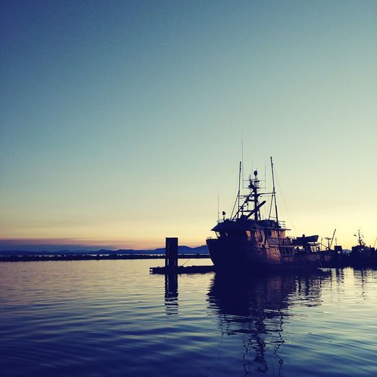 Richmond, Canada Canada Steveston Vancouver Richmond Water Reflection Sunset Blue Outdoors Beauty In Nature