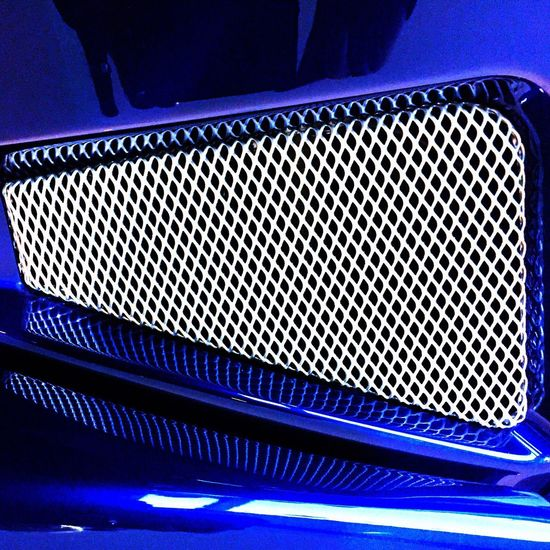 Morgan Grille Binnie Bell & Colvill Morgan Motor Car Metallic Metal Grille Blue Close-up Metallic Metal Grille Blue Close-up