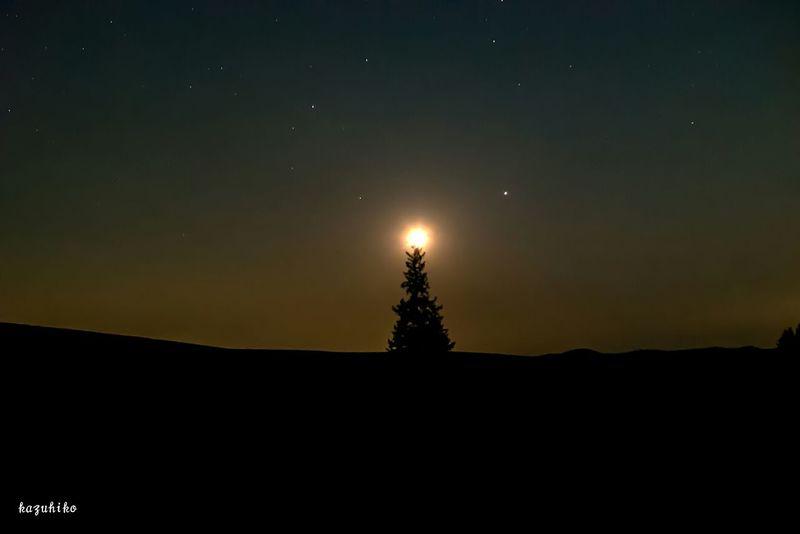 Hokkaido Japan Biei Stars 星と月
