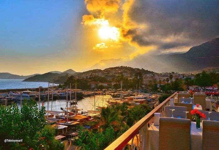 Kaş marina sunset