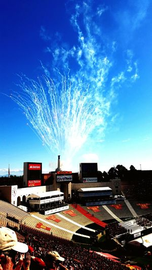 Los Angeles, California Coliseum USC  Fireworks University Of Southern California Trojans Fireworks! Seeing The Sights