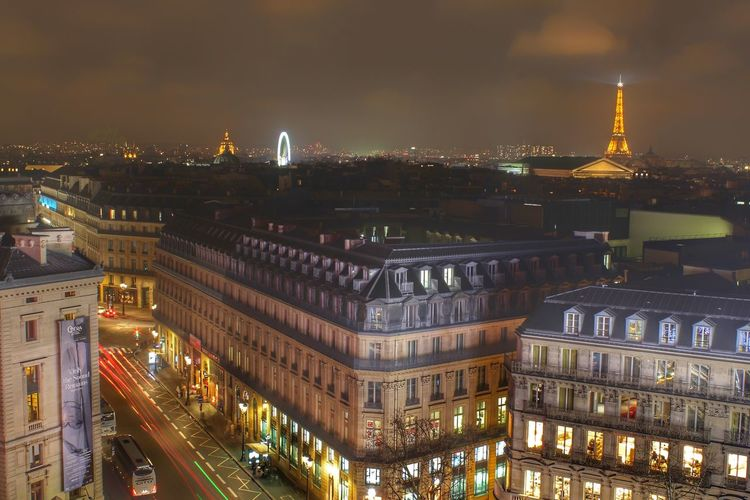 Paris Eiffeltower Architecture Built Structure Building Exterior Illuminated Night City Travel Destinations Tourism Sky High Angle View History No People Outdoors Cityscape