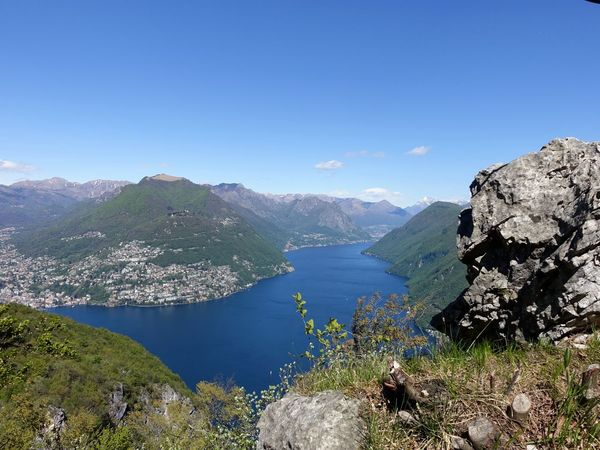 Beauty In Nature Hill Idyllic Lake Lake View Landscape Majestic Mountain Mountain Range Nature Plant Remote Rock Rock Formation Sky Sky And Clouds Tranquil Scene Tranquility Tree Lugano, Switzerland San Salvatore Lake Lugano Lago Di Lugano  The Great Outdoors With Adobe