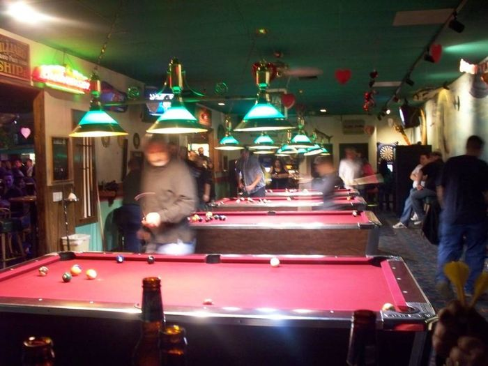 Taking Photos People Watching Pool Table Playing Billiards