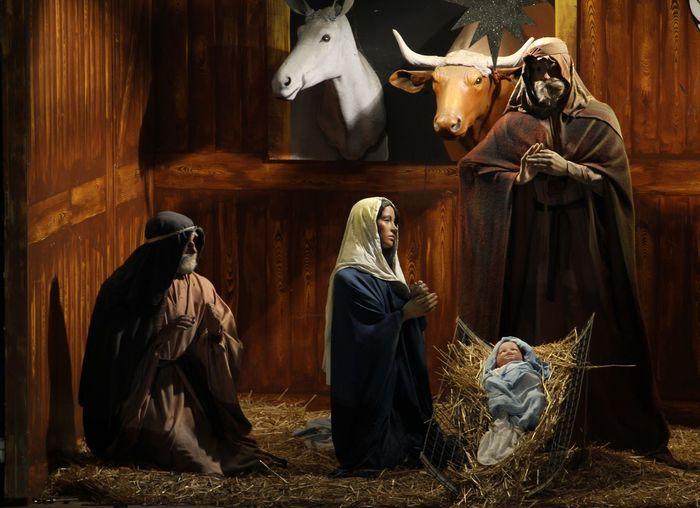 Christmastime Christianity Christmas Decorations NativityScene Brewery Christmas Display, Adelaide