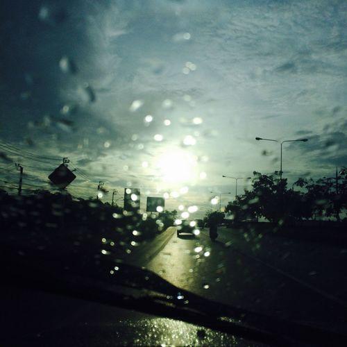 On the way On The Way Rain Car Road