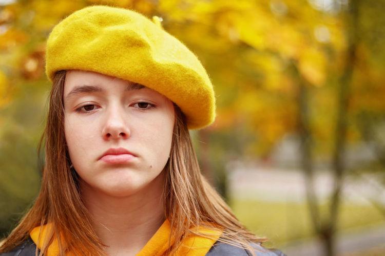 Close-up portrait of teenage girl