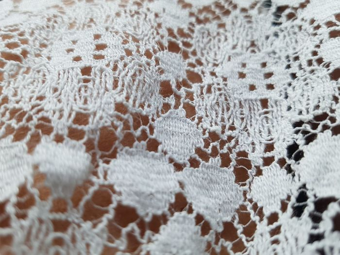 Lace Lace Close Up Backgrounds White Lace White EyeEm Selects Backgrounds Textile Full Frame Snowflake Pattern Fabric Winter Close-up Embroidery Lace - Textile Lace - Fastener