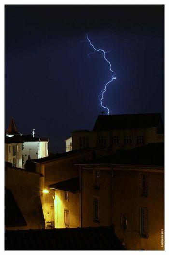 Night And Storm Lightening