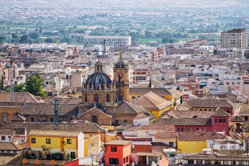 Andalusia Andalucía Endülüs Granada, Spain SPAIN Granada Building Exterior Architecture Built Structure Building City Crowd High Angle View Cityscape Travel Destinations Place Of Worship Residential District Religion Tourism Roof Day Travel Outdoors TOWNSCAPE