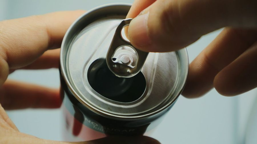Human Hand Occupation Aerosol Can Holding Business Finance And Industry Human Finger Men Close-up Drink Can Can Personal Perspective Workshop Aluminum