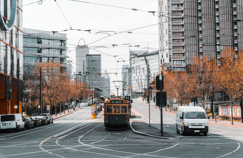 Architecture Building Exterior Built Structure Cable Car City City Street Mode Of Transportation Motor Vehicle Railroad Track Transportation