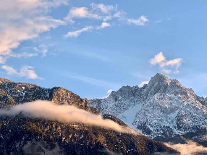 Out of my window Keine Personen EyeEm Gallery Nature Photography Natur Lover Nice Evening Snow Cloud - Sky Mountain Sky Beauty In Nature Cold Temperature Winter