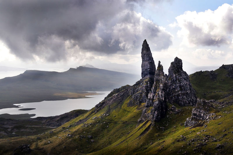 The Old Man of Storr, Isle of Skye, Scotland Cloud - Sky Cloudy Highlands Landscape Mountain No People Non-urban Scene Rock Formation Scotland Sky Skye Tranquil Scene