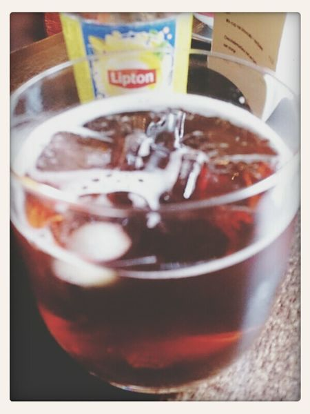 Hving a Lipton Ice Tea