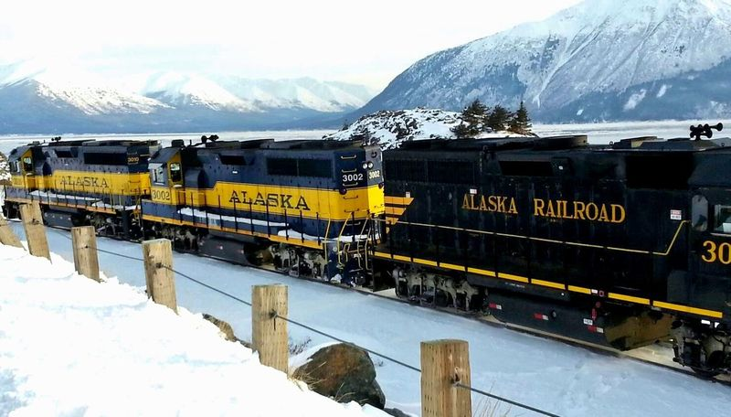 Alaska Railroad Alaska Anchorage Alaska Cold Last Frontier _collection Polar Express Train Travel Photography Winter