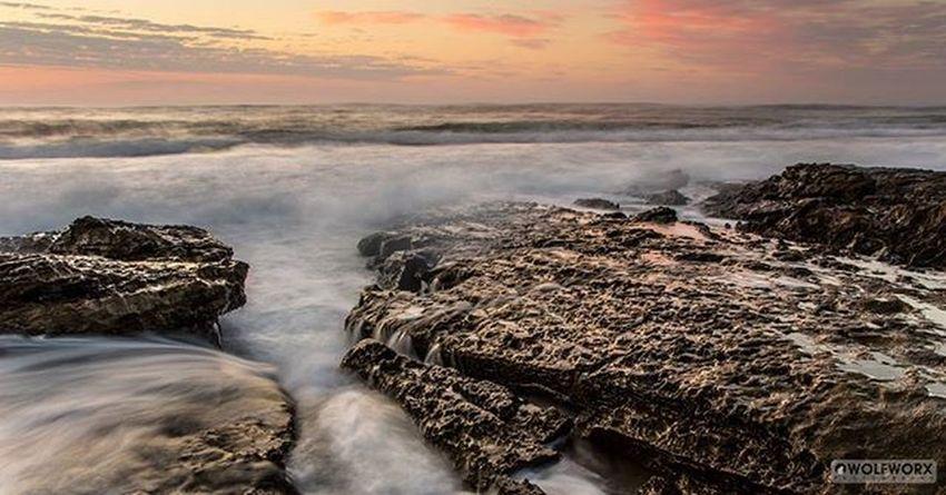 Sea Ocean Southafrica Cityofeastlondon Surf Waves Rocks Sunrise Dawn Sky Skyporn Cloudporn Riseandshine Pentax Wolfworx Longexposure Rockpools Indianocean Warm Summer Summervibes Landscape