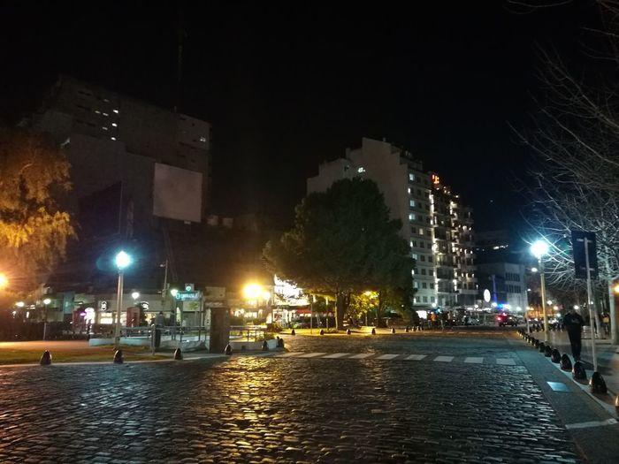 Night Illuminated City Street Light Street Architecture Building Exterior Recoleta Cemetery Ciudad Autónoma De Buenos Aires