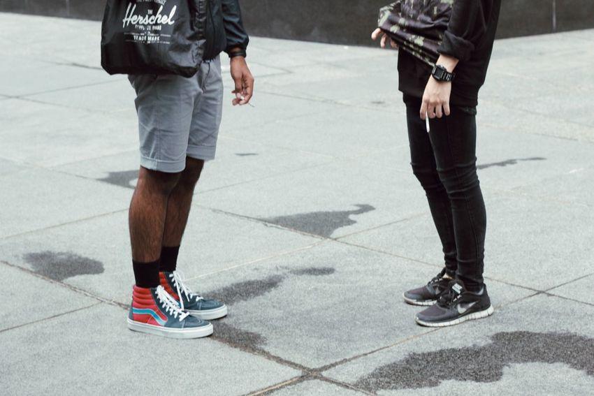 The Minimals (less Edit Juxt Photography) Perspectives Singapore Vscocam Urban Nike Fashion Kicks Shoes Meeting Friends