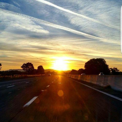 Cloud - Sky Sky Sunlight Road Scenics Day Transportation Outdoors Sunrise Window View Gradual