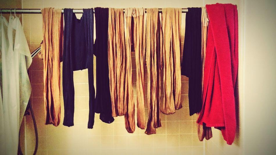 Shower Hosiery  Pantyhose Tights Washing Laundry Hanging EyeEm Best Shots Fabric Textile