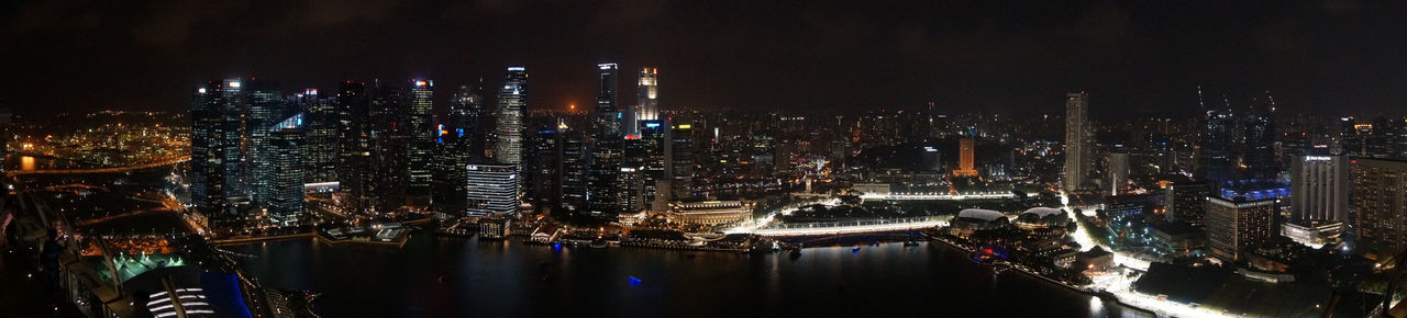 Panoramic view of manina bay area in singapore