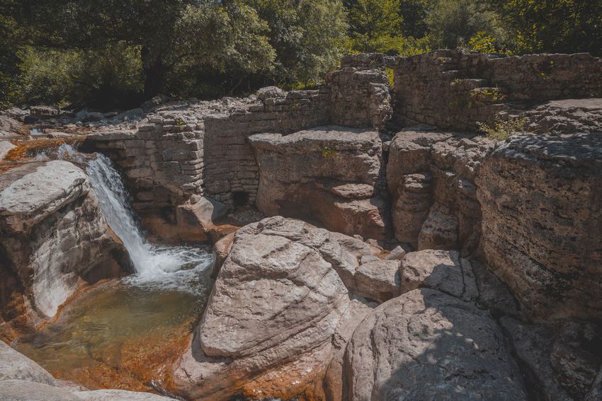 Kinchkha Ancient Civilization Beauty In Nature Day Flowing Flowing Water Forest History Land Nature No People Outdoors Plant Rock Rock - Object Rock Formation Scenics - Nature Solid The Past Tourism Travel Travel Destinations Tree Waterfall
