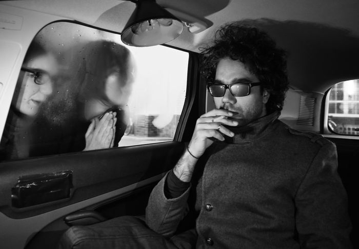 know him!?!? we do? Black And White EyeEm Best Shots EyeEm Challenge EyeEm Team Faces Of EyeEm Fashion Front View Iconic Inside A Car Lifestyles Looking At Camera Man Person Portrait Real People Sunglasses Young Adult