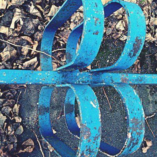 Blue metal bike