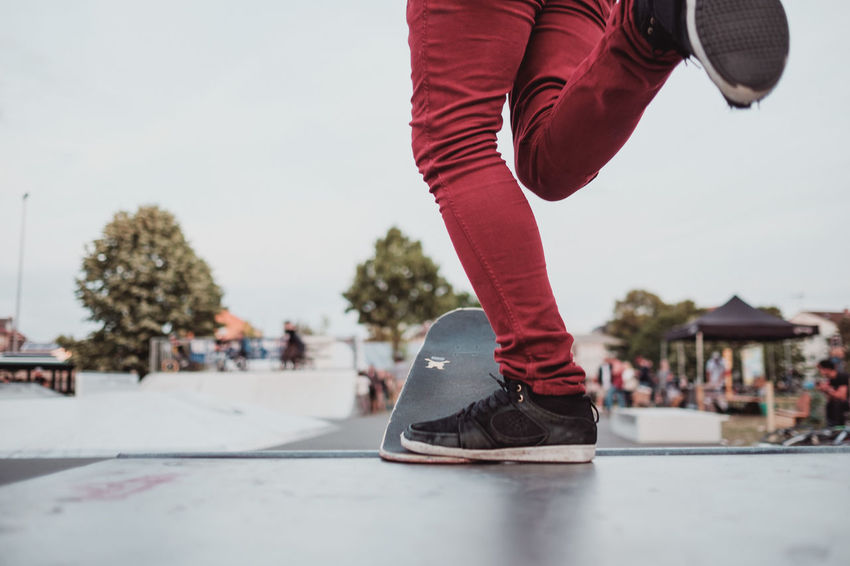 Skateboarding Day Focus On Foreground Human Body Part Human Leg Ice Rink Ice Skate Low Section One Person Outdoors People Real People Roller Skate Shoe Skate Skateboard Skateboard Park Skater Sky Sport