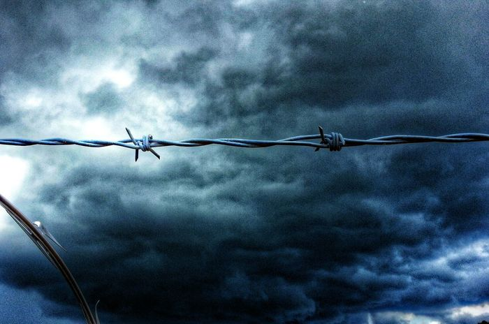 Barbed Wire Wednesday Barbwire Wednesday Stormy Weather WeatherPro: Your Perfect Weather Shot