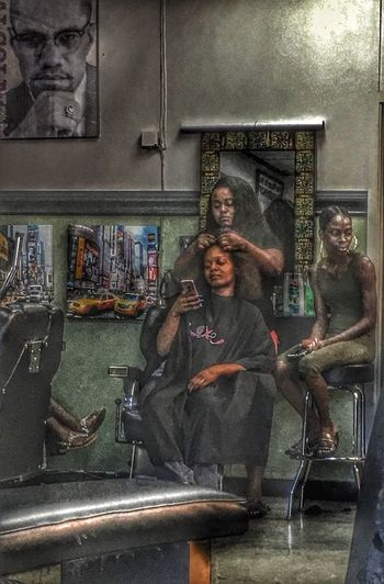 Everyone is in the shop today Urban People Photography Barbershop