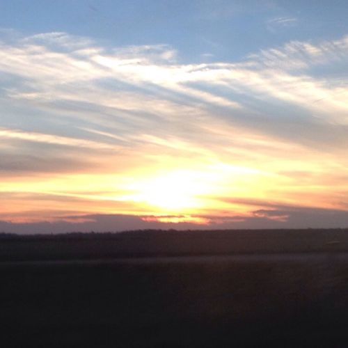 Sunset Enjoying Life Drive Home Beautiful Day
